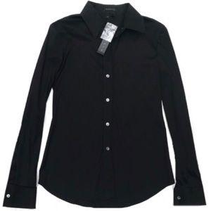 NWT $200 Theory Black Dress Shirt